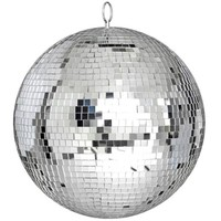 "Large 12"" Mirror Glass Disco Ball DJ Dance Home Party Bands Club Stage Lighting"