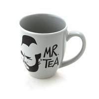 Mr T Tea Mug Grey Gray Silver, great gift for him