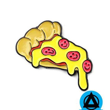 Allison Bamcat - Happy Pizza Pin