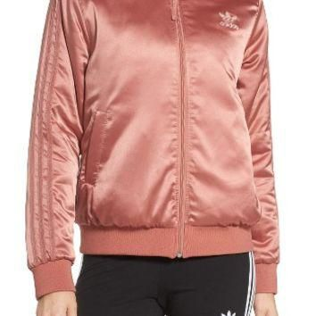 adidas Originals Trefoil Satin Jacket | Nordstrom