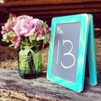 Chalkboard Table Numbers Free Standing Wedding Table Numbers Chalkboard Table Number Signs Double Sided Wedding Table Numbers Rustic Wedding
