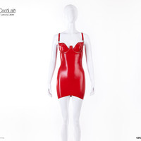 Casandra Cup Latex Mini Dress