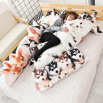 Plush Cat & Dog Pillows Soft Stuffed Animals Cushion Plush Toys for Children - 1pc 75/100cm