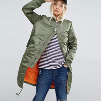 Knee Length Spring Bomber