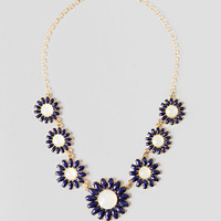 Ashbury Park Floral Necklace In Navy