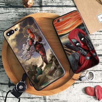 Deadpool Dead pool Taco  2 logo Fashion Tpu Soft Silicone Phone Case Cover Shell For Apple iPhone 5 5s Se 6 6s 7 8 Plus X XR XS MAX AT_70_6