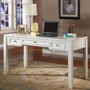 Parker House Boca 57 in. Writing Desk - Cottage White | www.hayneedle.com