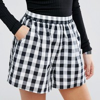 ASOS Gingham Culotte Shorts at asos.com