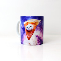 Pizza Cat Travelling Space Mug Cup