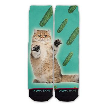 Function - Cat Cucumber Fashion Socks