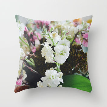 Morning Flowers Throw Pillow by Selma Wo