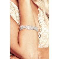 Shine All Night Rhinestone Bracelet (Silver)