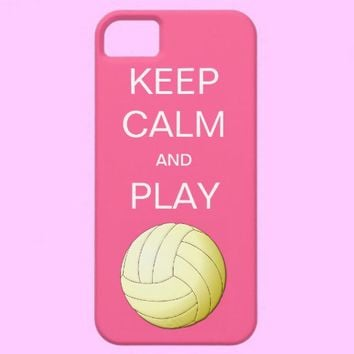KEEP CALM AND PLAY VOLLEYBALL iPhone 5 Case from Zazzle.com