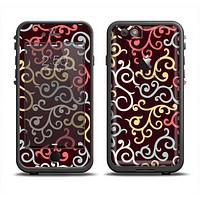 The Pink, Yellow and Blue Vector Swirls Apple iPhone 6 LifeProof Fre Case Skin Set