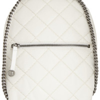Stella McCartney - Quilted mini faux brushed-leather backpack