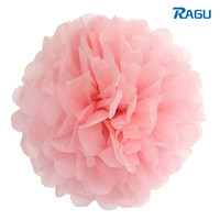 RAGU 5pcs Tissue Paper Pompoms Wedding Decorations Party Flower Balls Wedding Home Party Decor Light Pink  = 5710655105