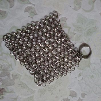 Finger Iron Cleaner Stainless Steel Chainmail Palm Brush Scrubber Kitchen Gadgets Wash Tool Pan Dish Bowl Mayitr