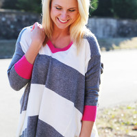 Stripe After Stripe Dolman
