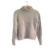 oatmeal sweater. pullover sweater / turtleneck / women's size S