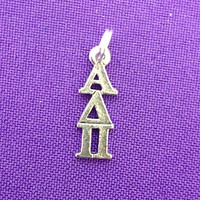 Alpha Delta Pi Sorority Lavaliere in Sterling Plate