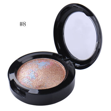 12 Colors Baked Single Eyeshadow Palette Makeup Shimmer Metallic Nude Naked Eye Shadow Palette Women Beauty Cosmetic Maquiagem