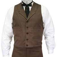 Sable Brushed Cotton Vest