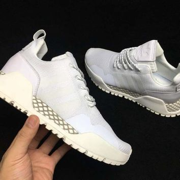 HCXX A287 Adidas AF 1.4 Primeknit Low Casual Sports Running Shoes White