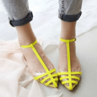 Women Jelly Beach Flat Shoes