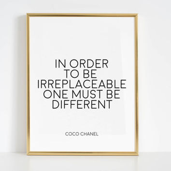 Fashionista COCO CHANEL QUOTES Printable Art Inspirational Print Fashion Art Fashion wall Art Fashion Print Coco Chanel Wall Decal Quotes