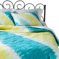 Xhilaration® Tie Dye Quilt - Turquoise (Full/Queen)
