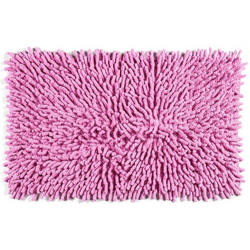 Cotton Chenille Bath Rugs | Pink