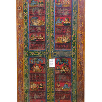 Antique Door // Old House Furniture // Door Frame // Vintage Indian Door Frame // Hand Painted Antique Doors