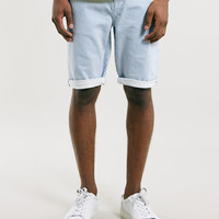 Blue Breton Stripe Slim Fit Shorts - Topman
