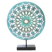 Decorative Bohemian Medallion Metal Art Figurine