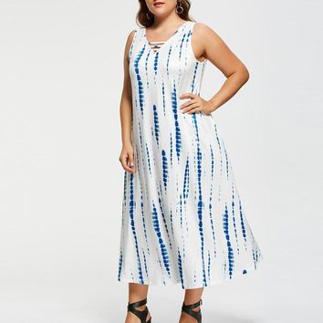 Plus Size Casual Sleeveless Dress