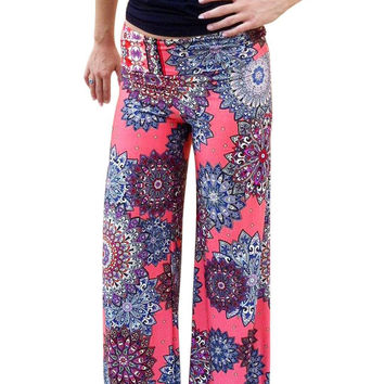 Sunflower Printed Wide Leg Trouser