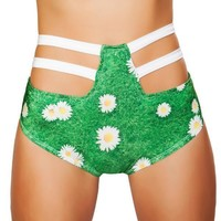 Strappy High Waisted Bottoms-Daisy