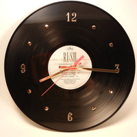 Rush Vinyl Record Wall Clock Permanent Waves by recordsandstuff