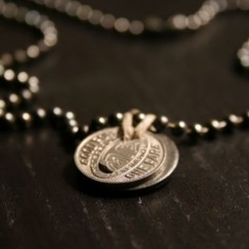 Los Angeles Bus Token Chain Necklace