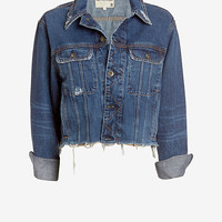 rag & bone/JEAN Unfinished Edge BF Crop Jacket: La Paz at INTERMIX | Shop Now | Shop IntermixOnline.com