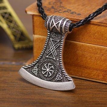 Slavic Perun axe Antique Silver Amulet Kolovrat Symbol Pagan Jewelry Amulets and Talismans Pendants
