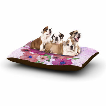 "Julia Grifol ""My Garden In Pink"" Magenta Floral Dog Bed"