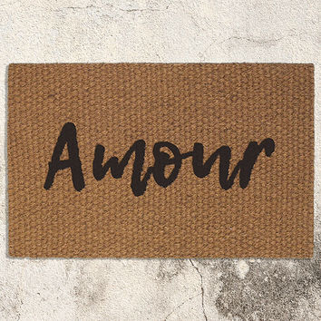 Amour Doormat | Welcome Mat | Home Decor | Valentine's Day Decor | French Decor | Love Door Mat | Cocomat | Welcome Rug | Wedding Gift