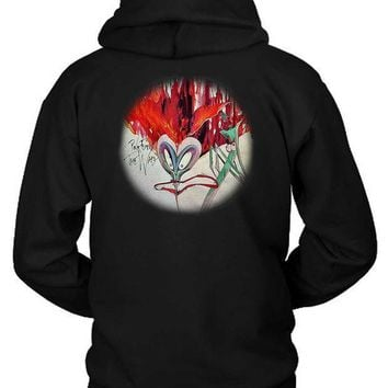 Pink Floyd The Wall Rounded Illustration Funny Face Hoodie Two Sided
