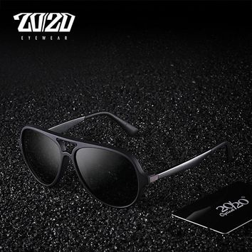 20/20 Brand Polarized Men Vintage Sunglasses Aluminum Frame Sun Glasses Men's Eyewear Accessories For Men PZ5005