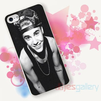 Justin Bieber Smile With Hat for iPhone 4/4S, iPhone 5/5S, iPhone 5C, iPhone 6 Case - Samsung S3, Samsung S4, Samsung S5 Case