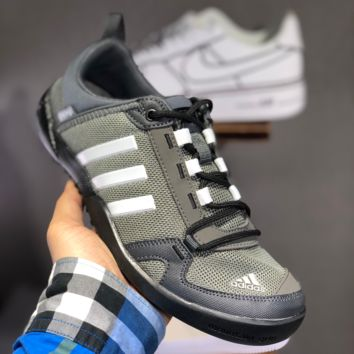 hcxx A1496 Adidas Climacool Daroga Two 3 Retro Hollow Wading shoes Gray