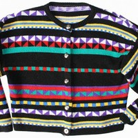 Ugly Sweater For Sale: Vintage 80s Tacky Ugly Ski Sweater M/L $18.00