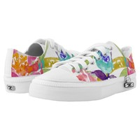 Colorful Watercolor Florals Printed Shoes