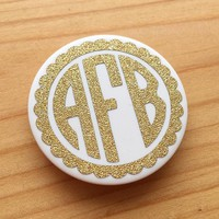 FANCY MONOGRAM | Gold Glitter PopSocket Decal | Monogram PopSocket Decal | By AngelaBrooks